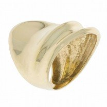 Freeform Concave Band 14K Yellow Gold