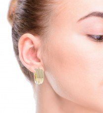 14K Yellow Gold Hollow Hoops