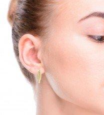 Hollow Double Hoops 14K Yellow Gold