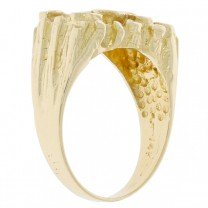 14K Yellow Gold Nugget Style Ring