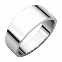 8 mm Flat Tapered Bands