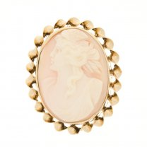 Beautiful High Relief Cameo Pendant Brooch