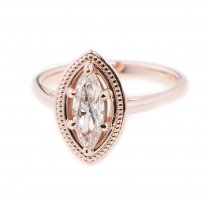 Marquise Diamond.73 CT Engagement Ring Rose Gold