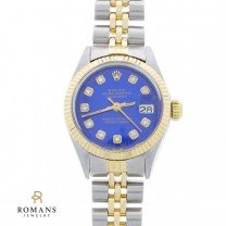 1971 Rolex 14K Yellow Gold and Stainless Steel Diamond Dial Wristwatch