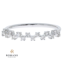 Diamond Stackable Band 14K White Gold