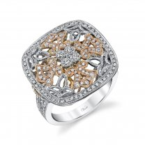 14K Two Tone Engagement Ring Setting