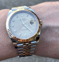 Rolex Datejust 18K Steel 41MM Factory Diamond Dial Box Reference 126333 Serial G543T864