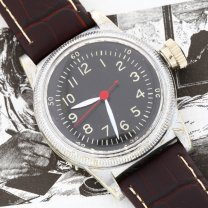 Waltham Military Watch Men's A-11 WWII Silver Tone Black Dial