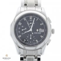 Concord Chronograph Watch Mens Auto Steel 14 A7 1891