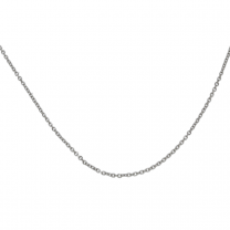 Cable Link Chain 14K White Gold