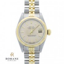 Rolex Datejust Watch Oyster Perpetual Quickset Steel & 18K Yellow Gold Ladies Ref. 69173 Serial 8975904