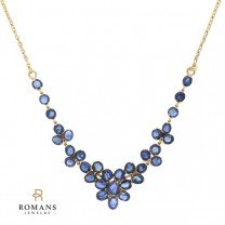 Sapphire Necklace Yellow Gold
