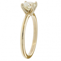 Solitaire Diamond Ring 14K Yellow Gold