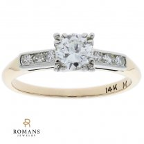 Vintage Engagement Ring 14K Two Tone