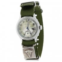 Wittnauer Military Wrist Watch with Sterling Medical Locket