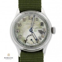 Wittnauer Military Watch with Sterling Medical Locket